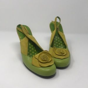🌼☘️🌼🍀Chinese Laundry green and yellow heels